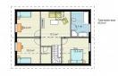 Moodulmaja ARCA 140  2 korruse plaan